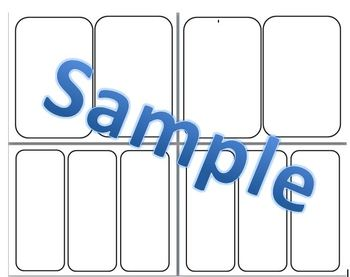 Blank Template - 2 or 3 boxes for worksheets or foldables