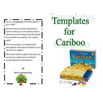 Blank Templates For Cariboo----Make your own cards!