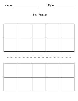 Blank Ten-Frame, Double Ten-Frame Template
