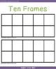 Blank Ten Frames Template