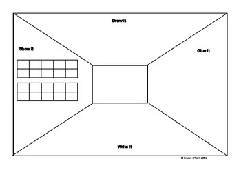 Blank Think Board for Number Study