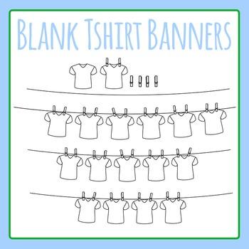 Blank Tshirt Word Banner / T-shirt Laundry Word Word Clip