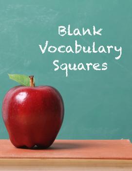 Blank Vocabulary Squares - 2