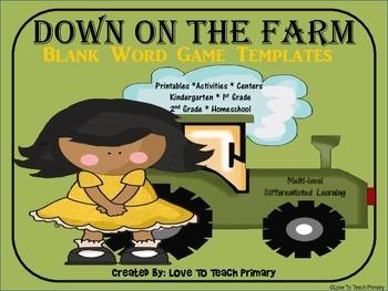 Farm Word Games