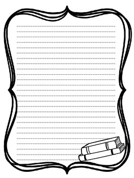 Blank and lined paper for student writing
