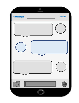 Blank iPhone Message Template