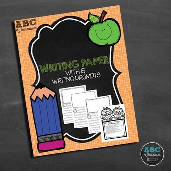 Blank writing paper with illustration boxes and 15 writing