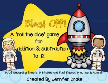 Blast Off!  A 'Roll The Dice' Addition & Subtraction Game,