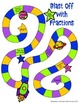 Adding and Subtracting Fractions Board Game