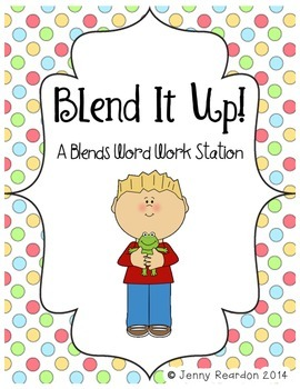 Blend It Up! A Blends and Digraphs Word Work Station