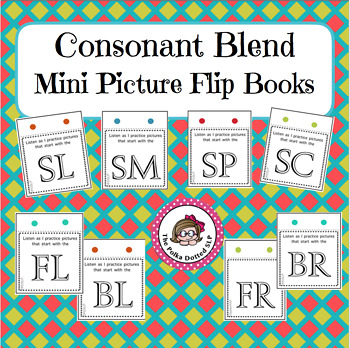 /l/, /r/ and /s/ Blend Mini Picture Flip Books