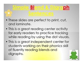 Blend and Digraph Sentences