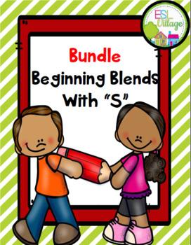 """Beginning Blends / Blends with """"s"""" BUNDLE {sc, sk, sm, sn,"""