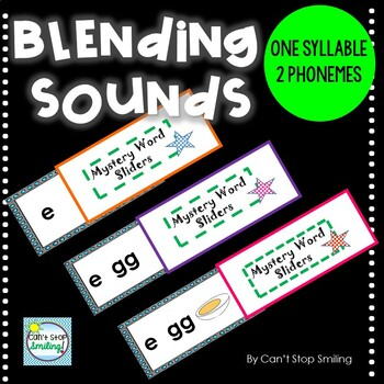 Blending Sounds and Phonemes with Sliders- Words with 2 Phonemes