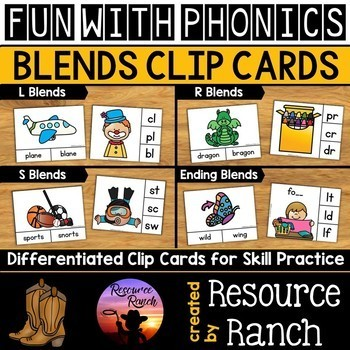Beginning Blends - Clip Cards