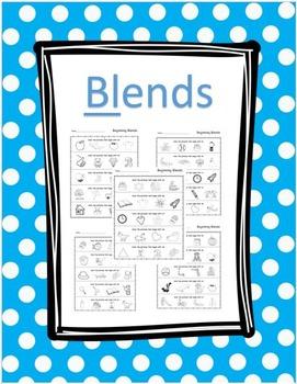 Blends- Beginning sounds worksheet