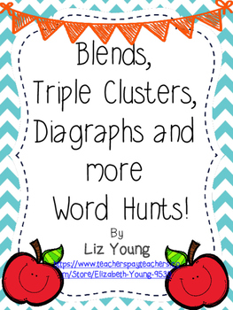 Blends, Clusters, Digraphs and More! Word Hunt