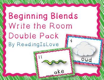 Blends Combo Pack:  Write the Rooms and Matching & Sorting