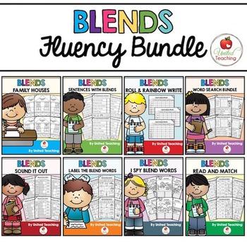 Blends: Complete No Prep Blends Fluency Bundle