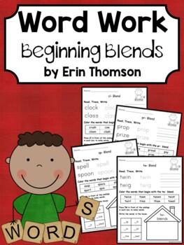 Daily 5 Word Work - Beginning Blends