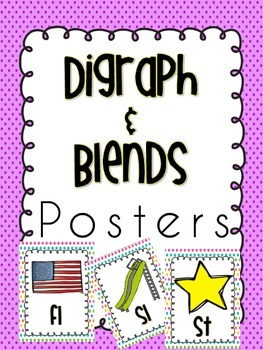 Blends & Digraph Posters {34 brightly colored}