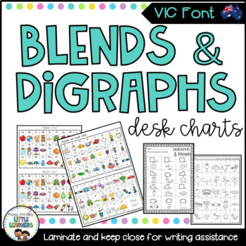 VIC Font Blends & Digraphs Charts & Activities