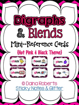 Blends & Digraphs Mini-Reference Posters Color/B&W {Hot Pi