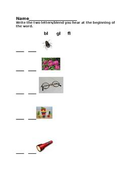 Blends Kindergarten