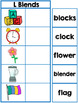 Blends Matching Mats Phonics for Reading Centers