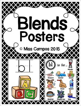 Blends Posters and Word Banks