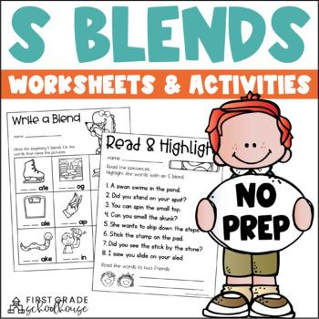 S Blends Word Work