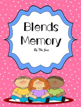 Blends Spelling patterns Memory K-2 (***BONUS Blends Bingo***)