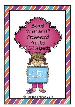 Blends 'What am I?' Crossword Puzzles C/C Aligned