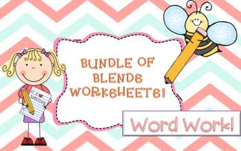 Blends Worksheets!