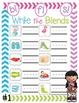 Blends Write and Wipe Cards