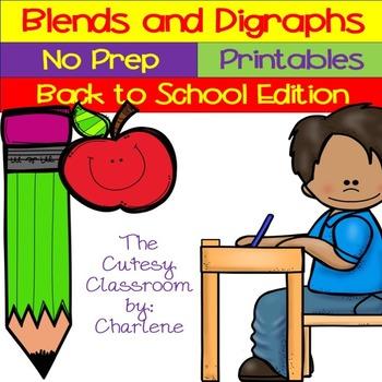 Blends and Digraphs ELA CCSS RF.2.3