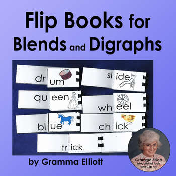 Blends and Digraphs Flip Books in BW and Color
