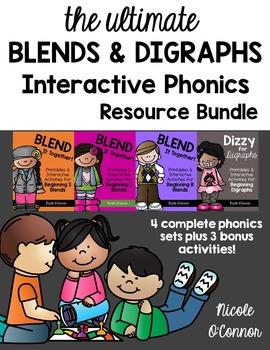 Blends and Digraphs Interactive Phonics Resource Bundle