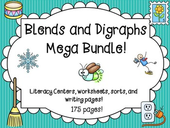 Blends and Digraphs Word Work Activities