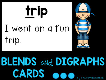 Blends and Digraphs Reading Cards