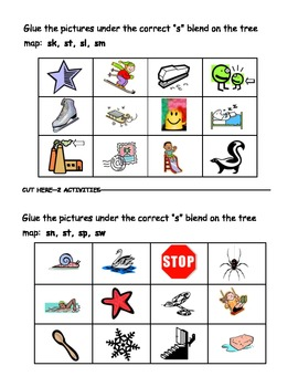 Blends and Digraphs Thinking Map Activities - Phonics