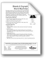 Blends and Digraphs Word Machines: sw/dr