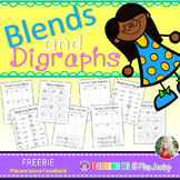 Blends and Digraphs {freebie}