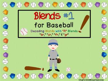 Blends for Baseball, Part 1: Decoding Game -  bl, cl, gl, & fl
