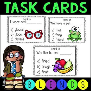 Blends for Reading Task Cards