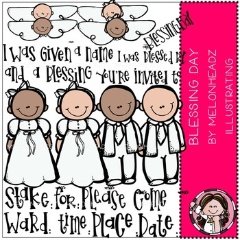 Melonheadz: Blessing Day clip art - COMBO PACK