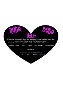 Blind Date With A Book Rate Your Date Form
