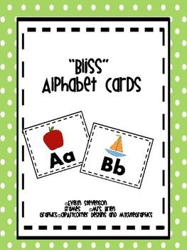 Bliss Alphabet Cards