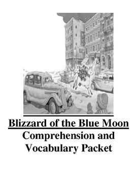 Magic Tree House Blizzard of the Blue Moon Guided Reading