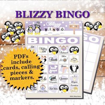 Blizzy Bingo BRIDAL SHOWER Printable PDFs